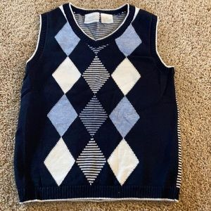 Dress shirt and sweater vest for boys